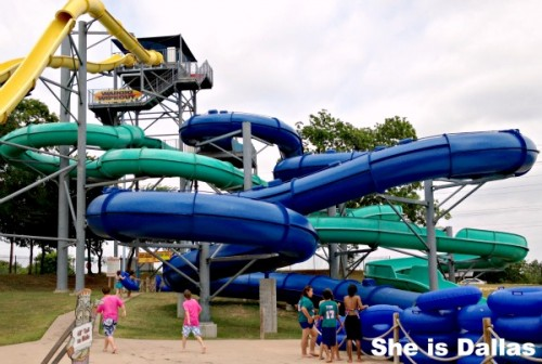 the rush water slide at hawaiian falls garland
