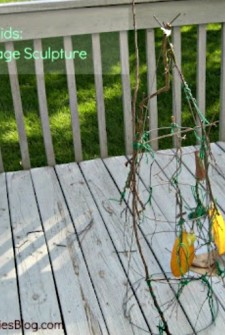 Craft for Kids: Tomato Cage Sculpture