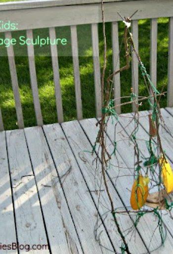 tomato cage sculture
