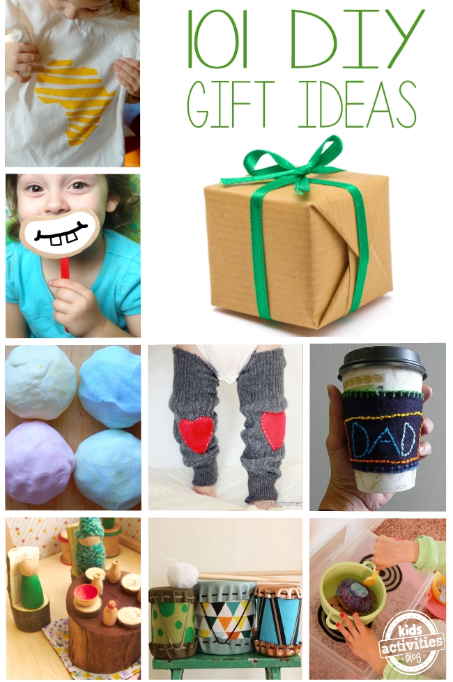 Oh so many! 101 DIY Gift Ideas for Kids - Kids Activities Blog