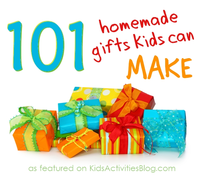 101 homemade gifts that your kids can make. #craft #diy