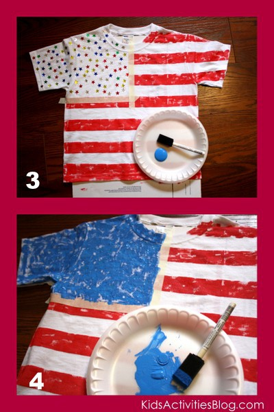 diy 4th of july flag shirt