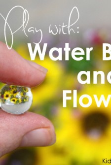 Water Bead and Flower Sensory Tub