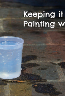 Keeping It Simple: Painting with Water