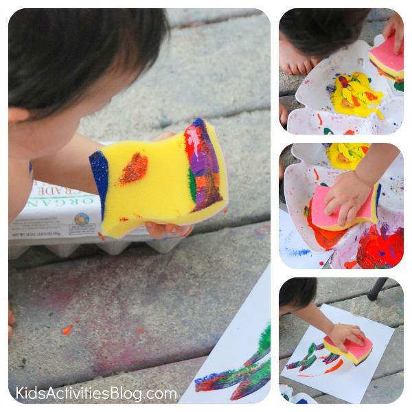art for kids sponge painting
