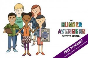 Updated Hunger Avengers Booklet FREE printable