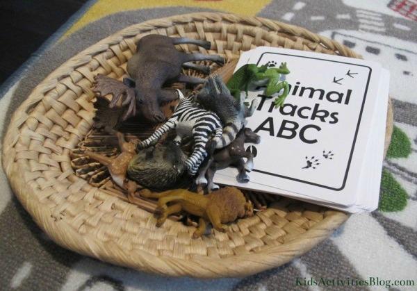 basket of toys animals