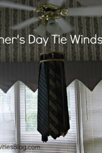 fathers day tie windsock
