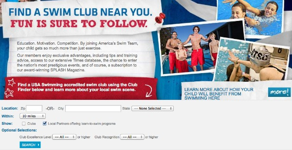 find a swim club near you
