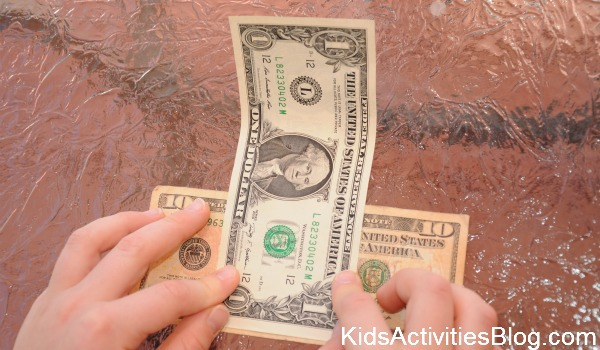 placing bills for trick