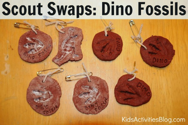 scout swaps dino fossils