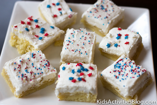 4th of July Sugar Cookie Bar Dessert