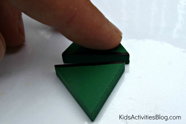 2 triangles math for kids
