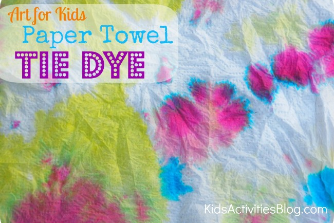 art-for kids tie dye paper towels feature