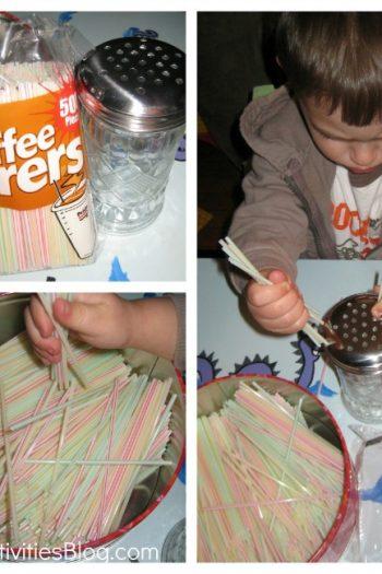 coffee stirrer collage