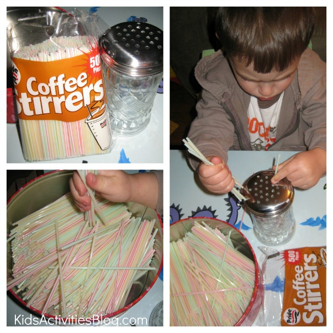 coffee stirrer collage