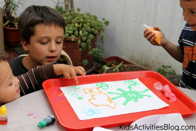 drawing with edible ink