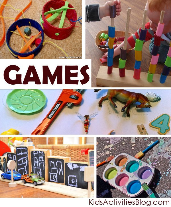 lots of different homemade games for the kids to make