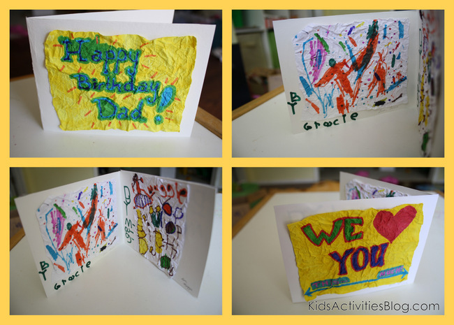 Image Of Making Birthday Cards With Kids Handmade Birthday Card For