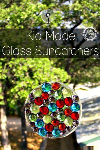 kid made glass sun catchers
