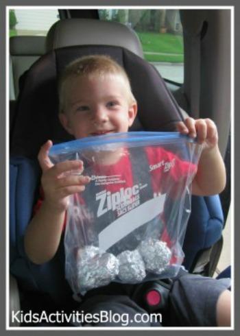 little boy foil balls