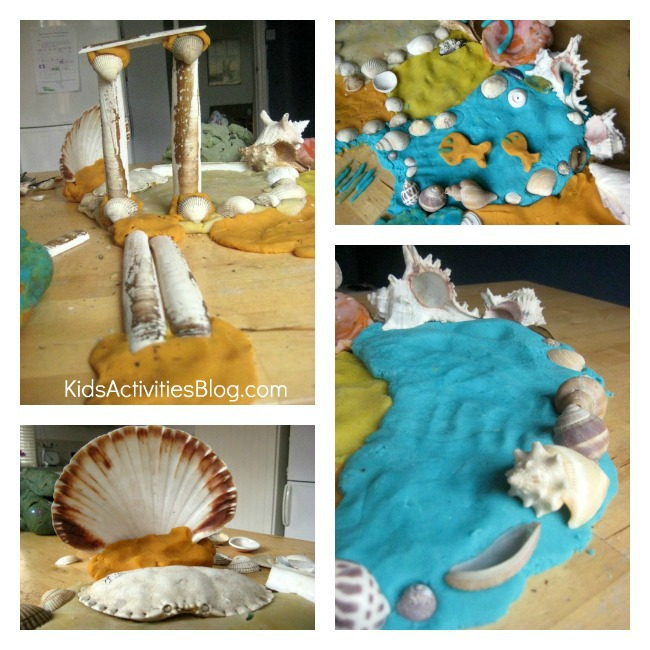 ocean-play-dough collage