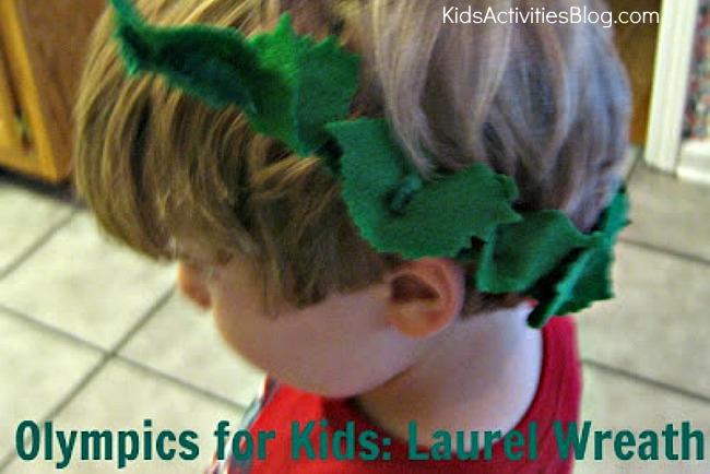 olympics for kids laurel wreath