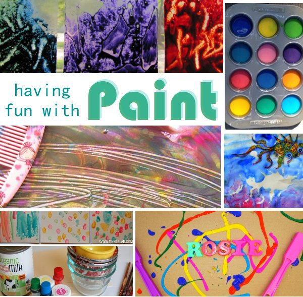 Playing With Paint Weekly Activities Round Up