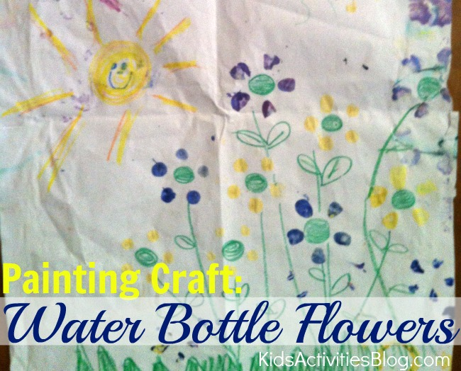painting craft water bottle flowers