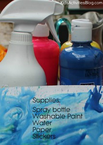 spray paint silhouette art supplies