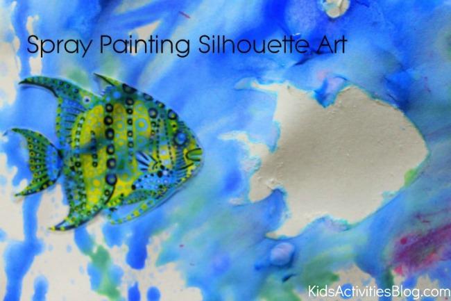 spray painting silhouette art