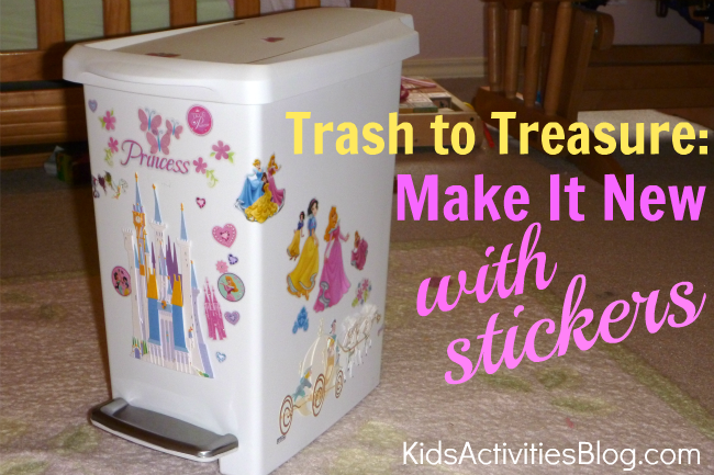 trash to treasure make it new with stickers