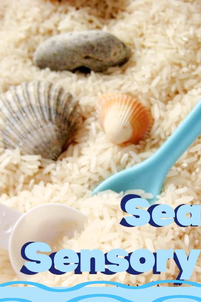 Bac sensoriel fait maison Seaside Ocean pour enfants - Blog d'activités pour enfants