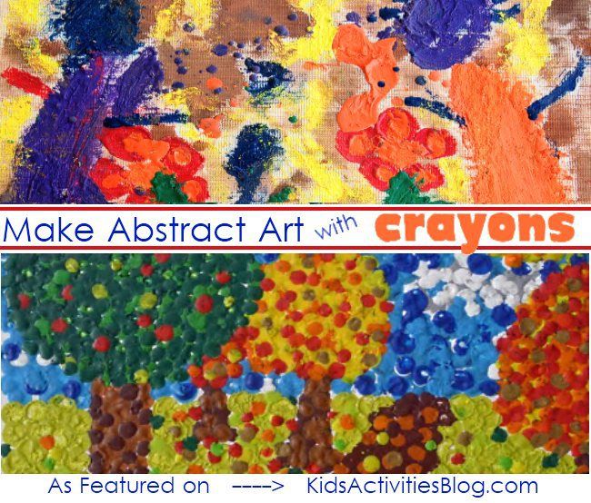 abstract art with crayon