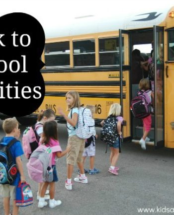 back to school activities
