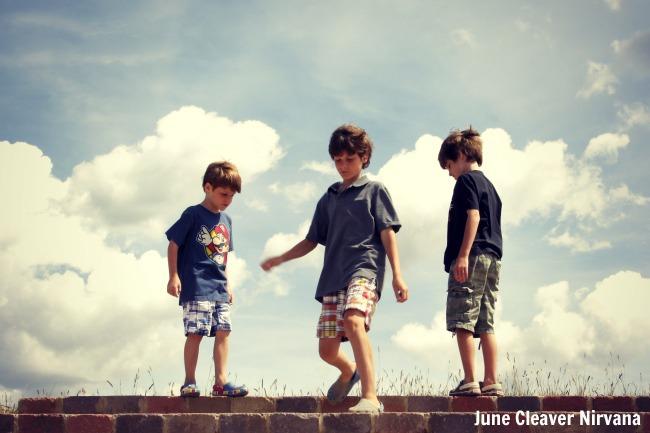 boys in mountain air