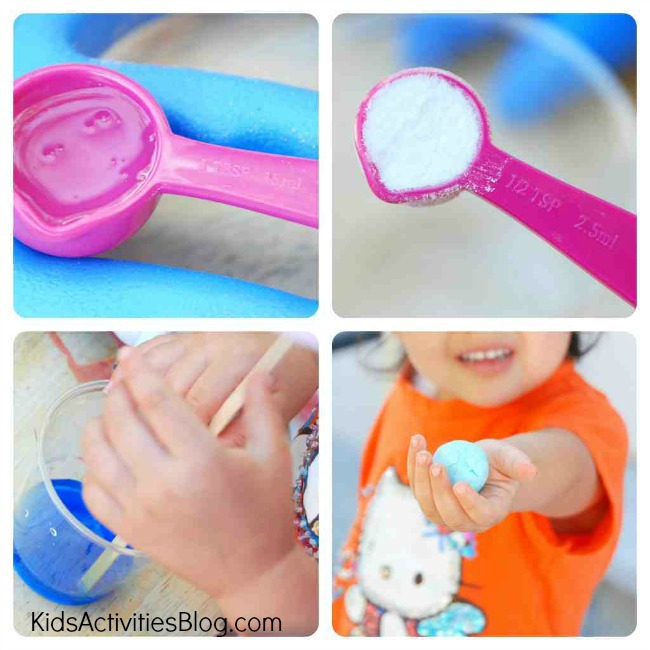 DIY Bouncy Ball Step 3 - diy for kids make a bouncy ball collage - Kids Activities Blog