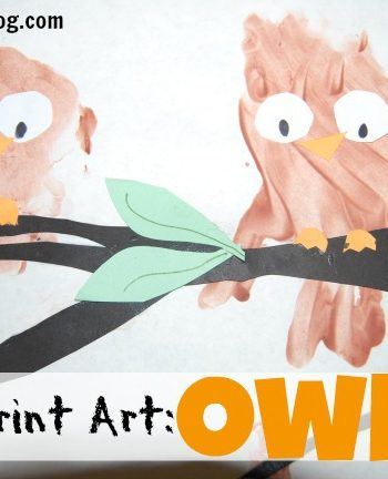 handprint art owls