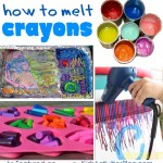 how to melt crayons