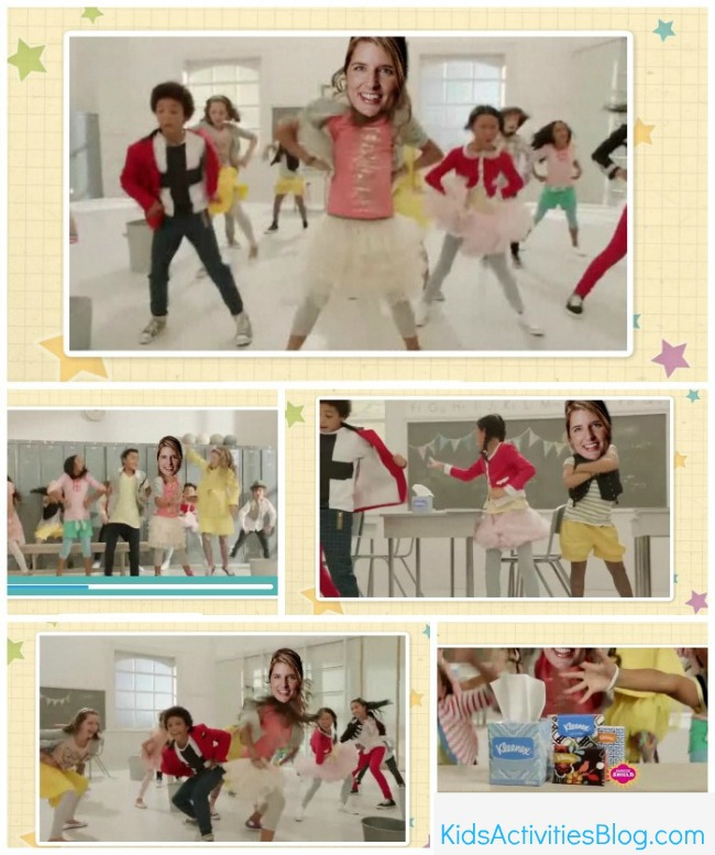 Kleenex dance collage with Holly