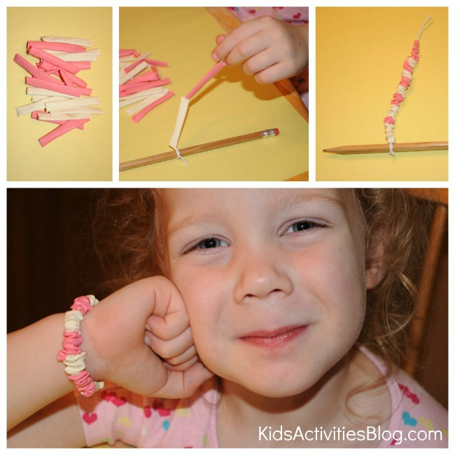 make a balloon bracelet collage 2