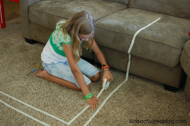 masking tape track