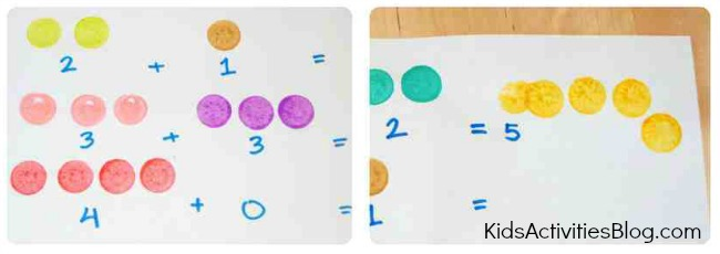 math for kids addition with do-a-dot