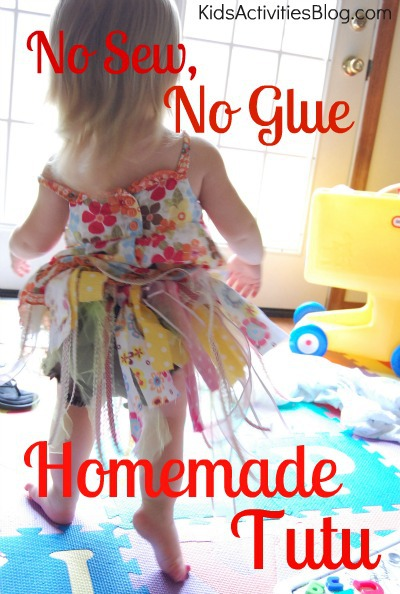 no sew no glue homemade tutu
