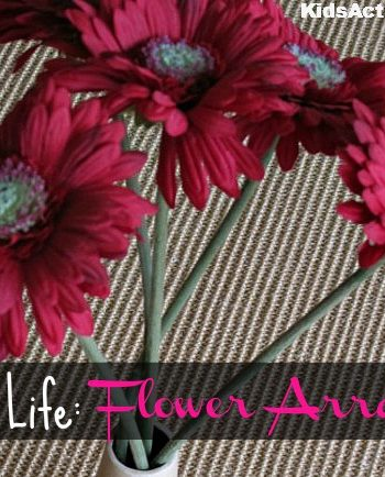 practicial life flower arranging feature