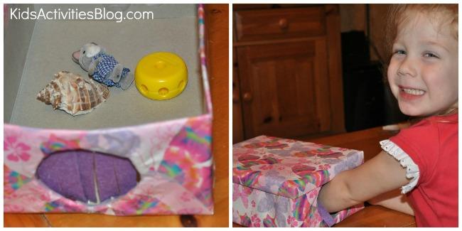 preschool mystery box collage