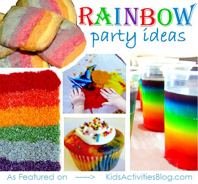 Coloring The Rainbow A Collection Of Colorful Party Ideas