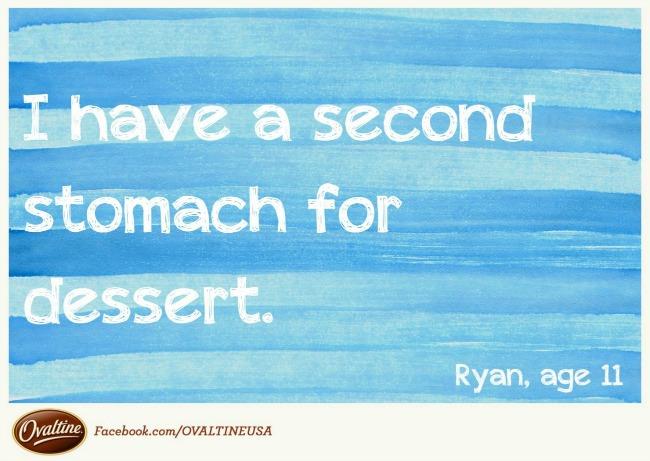 second stomach for dessert quotagraph Ovaltine