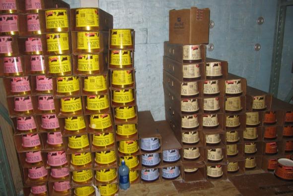 stacks of ice cream