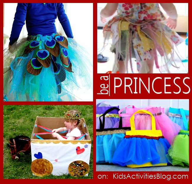 "Lots of activities for your girls to ""be"" a princess"